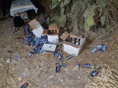 """המשטרה """"השביתה"""" לנערים את מסיבת האלכוהול"""
