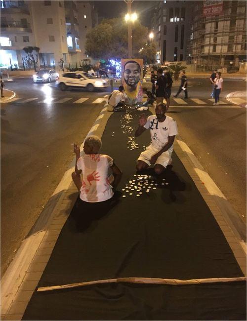 המפגינים הופתעו מנחישות השוטרים בהפגנה אמש בכפר גנים