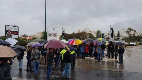 חסמו את הצומת במחאה על הבניה בסירקין /צפו
